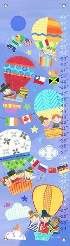 "Oopsy Daisy Growth Chart, Going Up, 12"" x 42"""