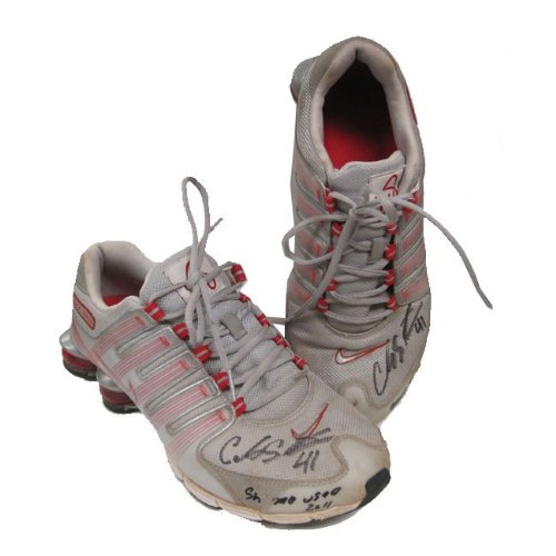 Carlos Santana Autographed Batting Practise Shoes - Autographed MLB Cleats