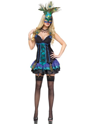 Fun World Women's Midnight Peacock Costume Multicoloured Medium