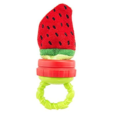 Sassy Terry Teether with Handle, Strawberry from Sassy