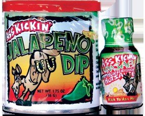 Ass Kickin Jalapeo Dip - Mix Our Ass Kickin Jalapeo Dip With Sour Cream And Mayonnaise Comes With A Free Mini Wasabi Hot Sauce Bottle To Spice Up As Desired from Southwest Specialty Foods Inc.