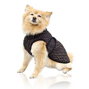 Scooter's Friends Sable Waterproof Dog Coat, Size 10, Dark Brown