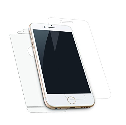 iPhone 6 Screen Protector, Zempi® Front Tempered Glass, HD, Clear (4.7 in), Back Cover Film, Anti-Explosion, Bubble-Free, No Fingerprint, Invisible, 0.33mm, Anti-glare, Multiple Layers, Round Edges, Life-Time No-Hassle Guarantee