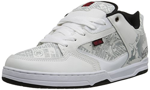 EtniesMETAL MULISHA CARTEL - Sneaker uomo , Bianco (Weiß (WHITE/BLACK/RED)), 43