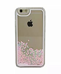 Generic iPhone 6s/6 Plus Case iPhone 6s/6 Plus Hard Case Fashion Creative Design Flowing Liquid Floating Luxury Bling Glitter Sparkle Love Heart Hard Case for iPhone 6s/6 Plus 5.5 inch (Pink)