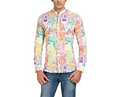Color-Buckket Men's Casual Shirt_CB506_White_S