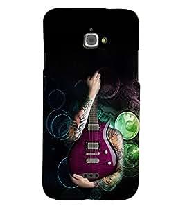 Fuson Premium My Music Printed Hard Plastic Back Case Cover for INFOCUS M350