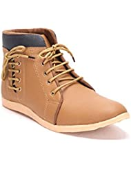 Desi Saga Brown Faux Leather Ankle Length Boot