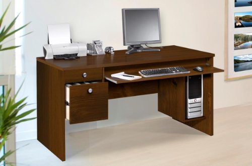 Buy Low Price Comfortable Nexera Essentials 60-Inch Computer Desk with File Drawers – Truffle (B0050JCSJ2)