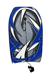 Blue, White, Gray 3D Tribal Print Body Board 33 in.