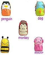KIDS CHILDRENS ZOO ANIMAL LUNCH BOX BAGS NURSERY SCHOOL (MONKEY)