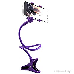 Universal Long Lazy Bed Desktop Car Stand Mount Holder For Cell Phone.