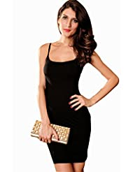 Dress Kart Spaghetti Straps Black Fashion Dress