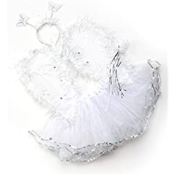 Tutu And Wings (12M to 5years, White - Angel)