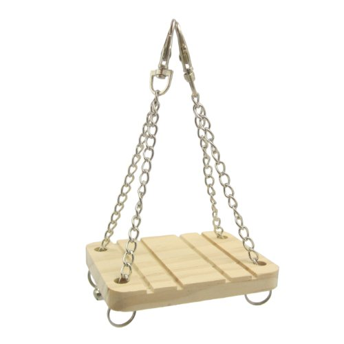 Alfie Pet Small Animal Playground - Karo Wooden Swing (Toy For Mouse And Dwarf Hamster) front-1067296