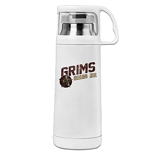Shining Star TWD Grimes Beard Oil The Walking Fans Transparent Cover Vacuum Cup White