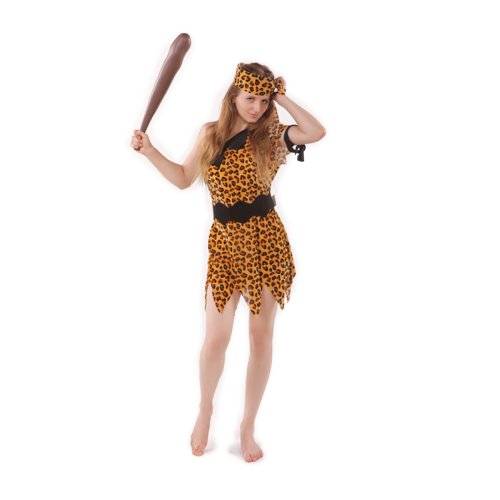 Stoneage Flintstones Jungle Cave Man Caveman N Cavegirl Fancy Dress Costume