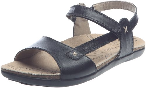 Hush Puppies Women's Santana Black Ankle Wrap