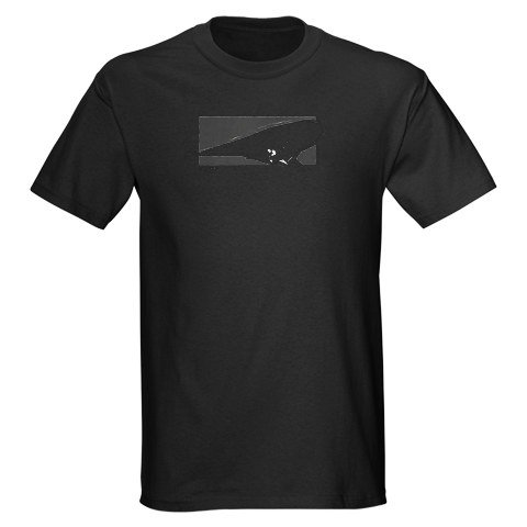 Black Slalom Water Ski T-Shirt Sports Dark T-Shirt by CafePress