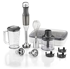 KitchenAid KHB2561QG 5-Speed Hand Blender, Liquid Graphite by KitchenAid