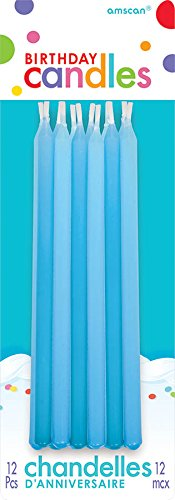 "Amscan Bright & Bold Tapered Birthday Candle, Blue, 5"" - 1"