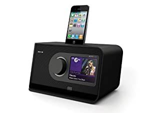 Revo Axis XS Touchscreen Internet/DAB/DAB+/FM Radio with Alarm Clock, iPhone/iPod Docking, Bluetooth Wireless Connectivity/Network Audio Streaming - Black