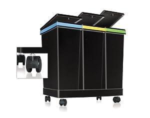 Smarty ecobin 3 contenitori per raccolta differenziata 63 lt totali 55cm x 34cm x 50cm h - Contenitori per differenziata casa ...