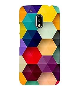 Multicolour Bright Pattern 3D Hard Polycarbonate Designer Back Case Cover for Motorola Moto G4