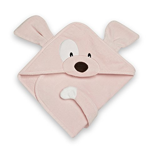 "GUND Babygund Spunky Baby Hooded Towel, Spunky Popsicle Pink, 30"" By 30"" - 1"