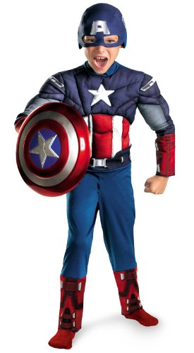 Captain America Movie Classic Muscle Costume - Medium
