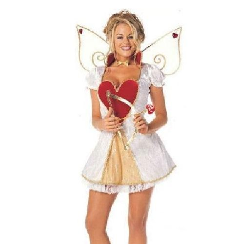 ALL NEW Young Women Women Cupid Costume WOW includes WINGS too!