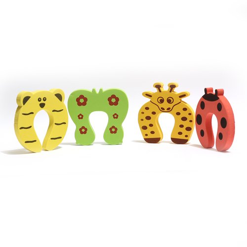 4 Pcs Safety Door Stopper Guard Finger Protector Child Kid Protector Cute Animal front-668750