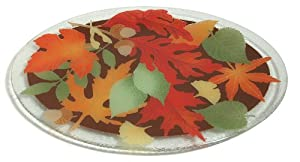 Peggy Karr 18-Inch Glass Leaves Oval Platter