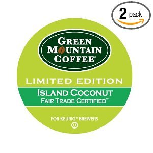 Green Mountain Coffee Fair Trade Island Coconut, K-Cups For Keurig Brewers, 24-Count 7.9Oz.  Box