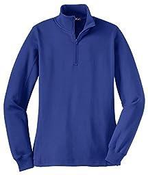 Sport-Tek Ladies 1/4-Zip Sweatshirt, True Royal, Medium