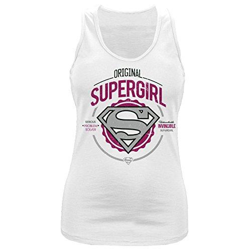 Supergirl - Canotta -  donna bianco M