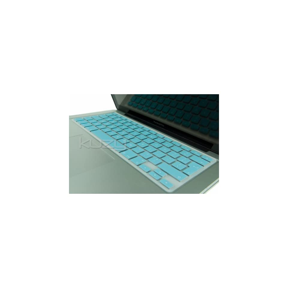 Kuzy   EU/UK TEAL HOT BLUE Keyboard Cover Silicone Skin for MacBook Pro 13 15 17 (with or w/out Retina Display) iMac and MacBook Air 13 (European/ISO Keyboard Layout)   Teal