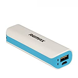 REMAX - MINI WHITE SERIES POWER BANK - 2600 mAh - BLUE