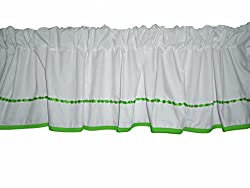 Baby Doll Bedding Unique Window Valance, Green Apple