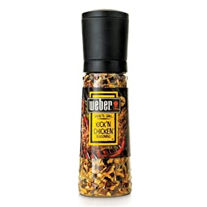 Weber Grind'n Grill (Shaker Grinder Bottle) Kick'n Chicken Seasoning 3.50oz