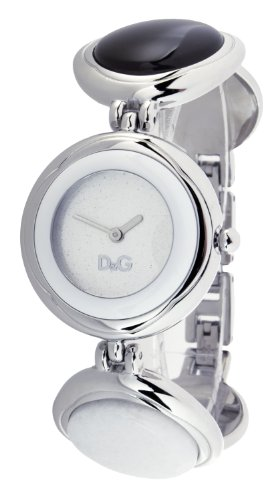 D&G Ladies Watch DW0658 with Silver Stardust Analogue Dial, Stainless Steel Case and Stainless Steel Bracelet With Coloured Stones