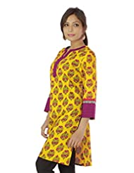 Shopping Rajasthan Exclusive Pure Cotton Handloom Handweaved Block Print Design Kurti Top - B00PHBZ0M0