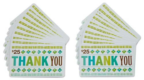 Amazon.com $25 Gift Cards - 20-pack (Thank You)
