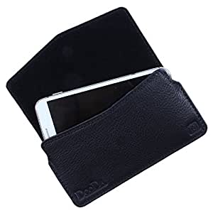 Dooda Genuine Leather Pouch Case For HTC One M7 (BLACK)