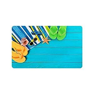 Flip Flops Doormat Entrance Mat Floor Mat Rug Indoor/Outdoor/Front Door/Bathroom Mats Rubber Non Slip Size 30 x 18 inches