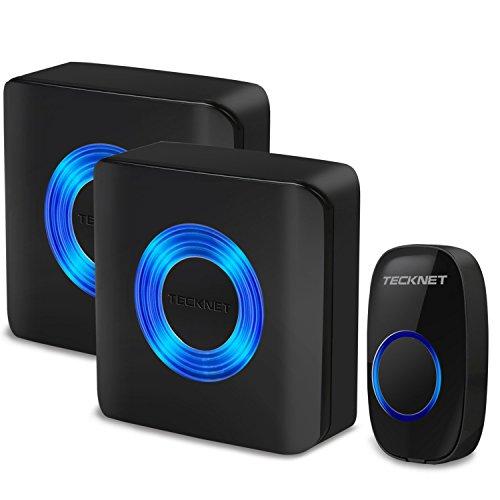 tecknet-premium-twin-mains-plug-in-wireless-cordless-doorbell-door-chime-at-500-feet-range-with-52-c