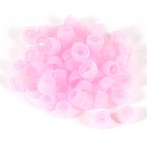 uxcell 50 Pcs Pink In Ear Silicone Earbud Cap Pads Tip Cover Replacement (Replacement Earbud Covers Pink compare prices)