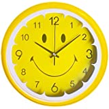 "12""h Lemon Smiley Face Wall Clock"