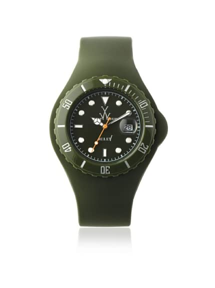 TOYWATCH Women's JTB20HG Jelly Quartz Green Dial Plastic Watch