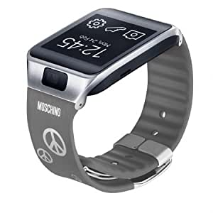 Samsung Galaxy Gear 2/Neo Designer Replacement Band by Moschino Peace Retail Packaging Gray